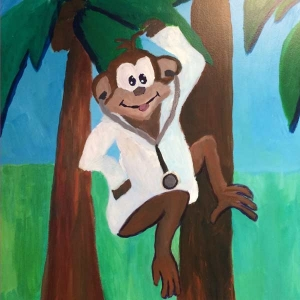 Monkey - Pediatric Exam Room at Access Medical Associates Branchburg NJ