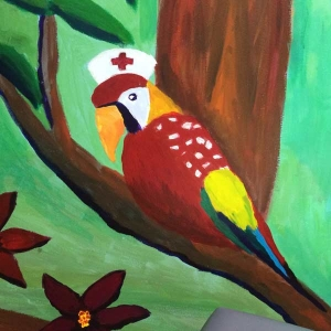 Parrot - Pediatric Exam Room at Access Medical Associates Branchburg NJ
